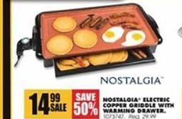 Blains Farm Fleet Black Friday: Nostalgia Electric Copper Griddle w/ Warming Drawer for $14.99