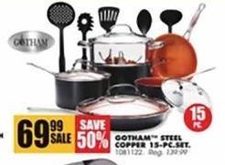 Blains Farm Fleet Black Friday: Gotham Steel Copper 15-pc Set for $69.99