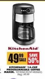 Blains Farm Fleet Black Friday: KitchenAid 14-cup Programmable Coffee Maker for $49.99