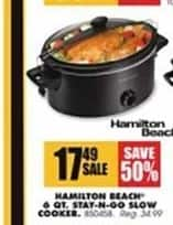 Blains Farm Fleet Black Friday: Hamilton Beach 6-qt. Stay-N-Go Slow Cooker for $17.49