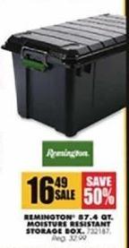 Blains Farm Fleet Black Friday: Remington 87.4-qt. Moisture Resistant Storage Box for $16.49