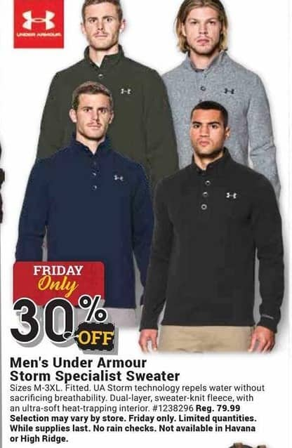 Farm and Home Supply Black Friday: Under Armour Storm Specialist Sweater for Men - 30% Off