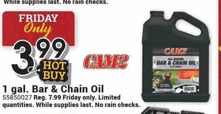 Farm and Home Supply Black Friday: Cam2 1-gal. Bar & Chain Oil for $3.99