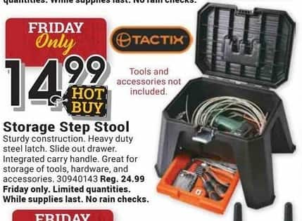 Farm and Home Supply Black Friday: Tactix Storage Step Stool for $14.99