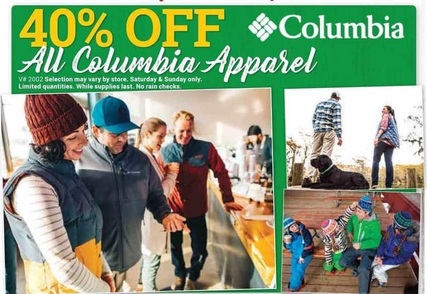 Farm and Home Supply Black Friday: All Columbia Apparel - 40% Off