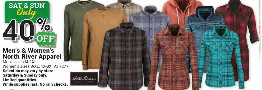 Farm and Home Supply Black Friday: North River Apparel for Men & Women - 40% Off