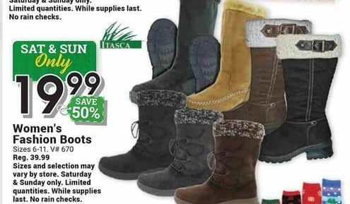 Farm and Home Supply Black Friday: Itasca Fashion Boots for $19.99