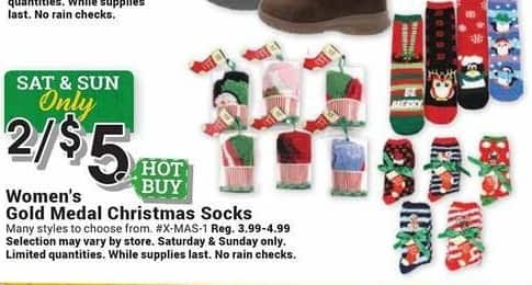 Farm and Home Supply Black Friday: (2) Gold Medal Christmas Socks for Women for $5.00
