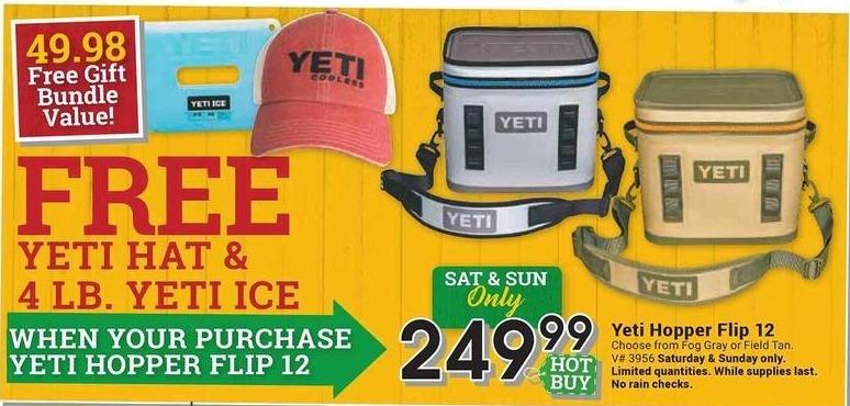 Farm and Home Supply Black Friday: Yeti Hopper Flip 12 +  Yeti Hat & 4-lb Yeti Ice for $249.99