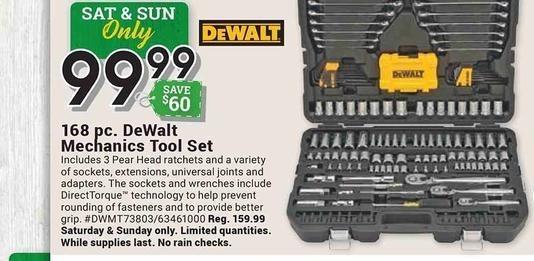 Farm and Home Supply Black Friday: DeWalt 168-pc. Mechanics Tool Set for $99.99