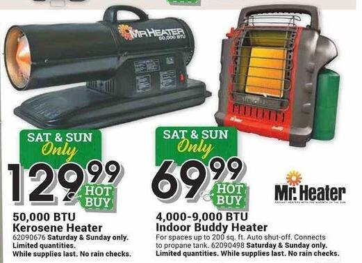 Farm and Home Supply Black Friday: Mr. Heater 4000-9000 BTU Indoor Buddy Heater for $69.99