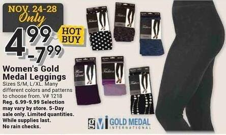 Farm and Home Supply Black Friday: Gold Medal Leggings for $4.99 - $7.99