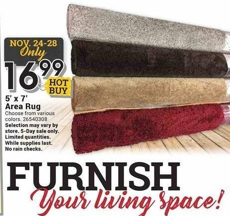 Farm and Home Supply Black Friday: 5'x7' Area Rug for $16.99