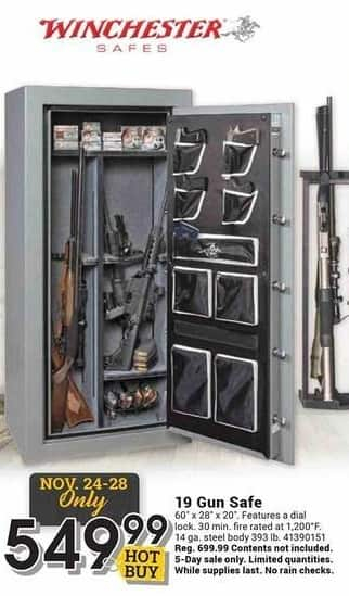Farm and Home Supply Black Friday: Winchester 19 Gun Safe for $549.99