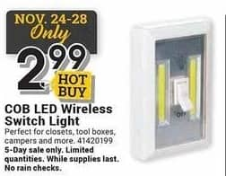 Farm and Home Supply Black Friday: COB LED Wireless Switch Light for $2.99