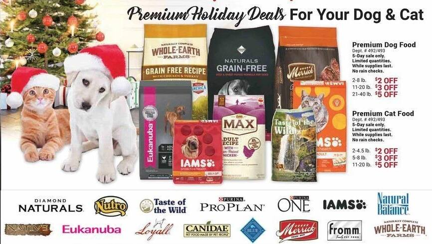 Farm and Home Supply Black Friday: Premium Cat Food 2-4.5lbs - $2 Off