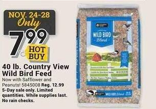 Farm and Home Supply Black Friday: 40-lbs Country View Wild Bird Feed for $7.99