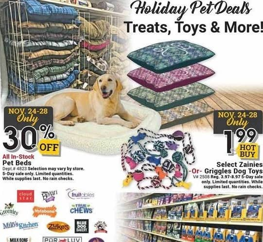 Farm and Home Supply Black Friday: Select Zainies or Griggles Dog Toys for $1.99