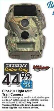 Farm and Home Supply Black Friday: Wildgame Innovations Cloak 8 Lightsout Trail Camera for $44.99