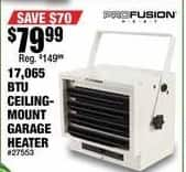 Northern Tool and Equipment Black Friday: ProFusion 17,065 BTU Heat Ceiling-Mounted Garage Heater for $79.99