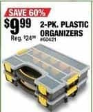 Northern Tool and Equipment Black Friday: Plastic Organizers 2-pk for $9.99