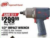 """Northern Tool and Equipment Black Friday: Ingersoll Rand 1/2"""" Impact Wrench for $299.99"""