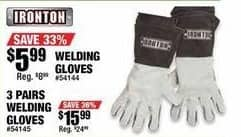Northern Tool and Equipment Black Friday: Welding Gloves 3-pr for $15.99