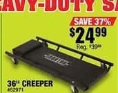 "Northern Tool and Equipment Black Friday: Ironton Creeper 36"" 300-Lb. Capacity for $24.99"