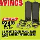 Northern Tool and Equipment Black Friday: Ironton 12 Volt Amorphous Solar Panels Twin Pack, 1.5 Watts for $24.99