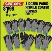 Northern Tool and Equipment Black Friday: Ironton Nitrile-Coated Gloves - 12 Pairs for $7.99