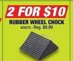 Northern Tool and Equipment Black Friday: (2) Rubber Wheel Chock for $10.00