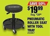Northern Tool and Equipment Black Friday: Ironton Pneumatic Roller Seat with Tool Tray 300-Lb. Capacity for $19.99