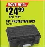 "Northern Tool and Equipment Black Friday: 16"" Protective Box for $24.99"