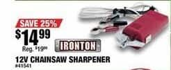 Northern Tool and Equipment Black Friday: Ironton 12v Chainsaw Sharpener for $14.99