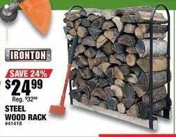 Northern Tool and Equipment Black Friday: Ironton Steel Wood Rack for $24.99