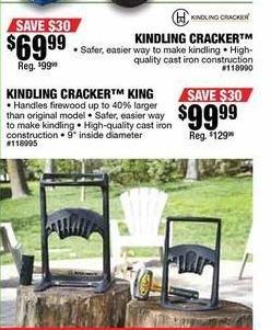 Northern Tool and Equipment Black Friday: Kindling Cracker Firewood Kindling Splitter for $69.99