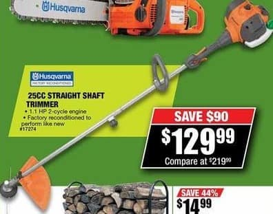 Northern Tool and Equipment Black Friday: Husqvarna 25cc Straight Shaft Trimmer for $129.99