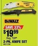 Northern Tool and Equipment Black Friday: DeWalt 2-pk Knife Set for $19.99