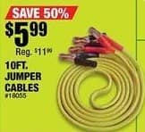 Northern Tool and Equipment Black Friday: 10' Jumper Cables for $5.99