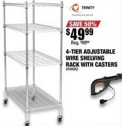 Northern Tool and Equipment Black Friday: Trinity 4-Tier 500-Lb. Capacity Shelving for $49.99
