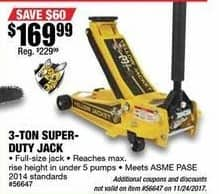 Northern Tool and Equipment Black Friday: Yellow Jacket Low-Profile Super-Duty 3-Ton Lift Capacity Jack for $169.99