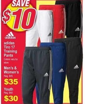 Modells Black Friday: Adidas Tiro 17 Training Pants for Men & Women for $35.00