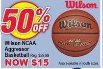 Modells Black Friday: Wilson NCAA Aggressor Basketball for $15.00
