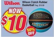 Modells Black Friday: Wilson Clutch Rubber Basketball for $10.00