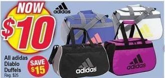 Modells Black Friday: Adidas Diablo Duffel Bags for $10.00