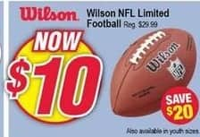 Modells Black Friday: Wilson NFL Limited Football for $10.00