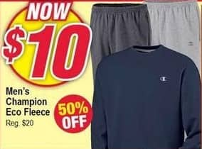 Modells Black Friday: Champion Eco Fleece for Men for $10.00
