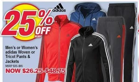 Modells Black Friday: Adidas Woven or Tricot Pants & Jackets - 25% Off