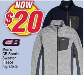 Modells Black Friday: CB Sports Sweater Fleece for Men for $20.00