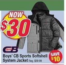 Modells Black Friday: CB Sports Softshell System Jacket for Boys for $30.00